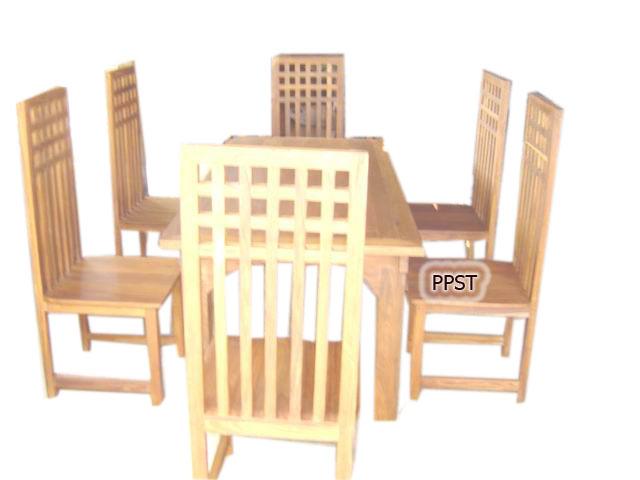 Wood Dining Set-sn080