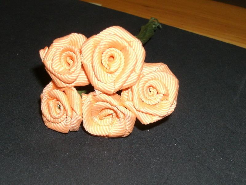 Fabric mini rose
