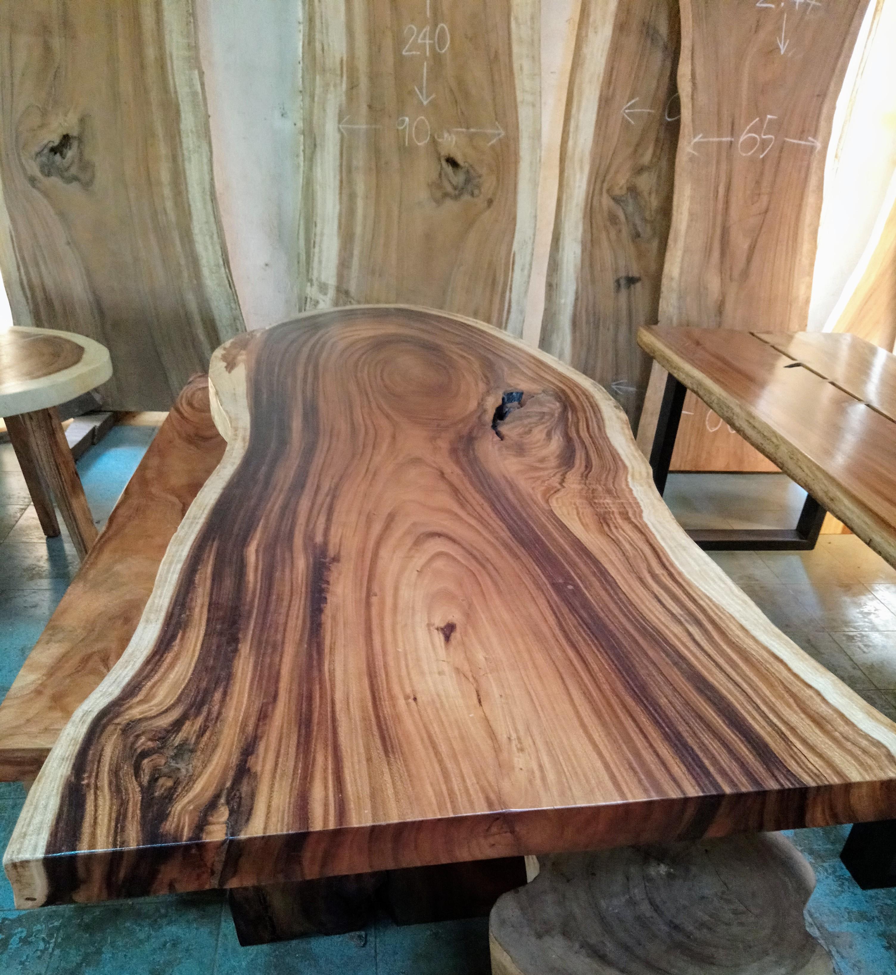 Large Rain Tree Wood Table_1587