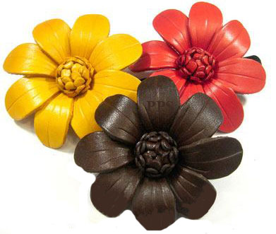 Leather Flower for hair Clips-g4