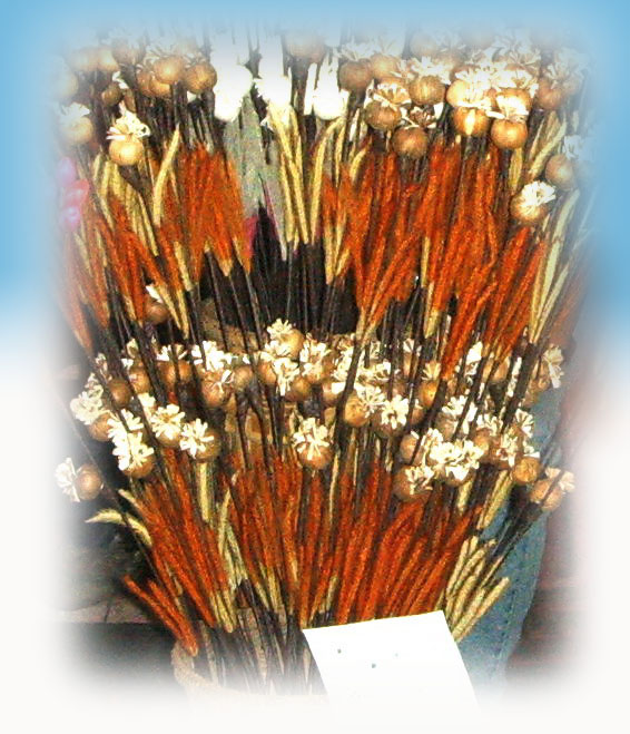 Flower made from nature material--13
