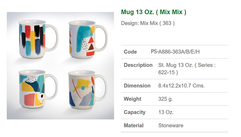 Ceramic mug 13 oz (mix mix)