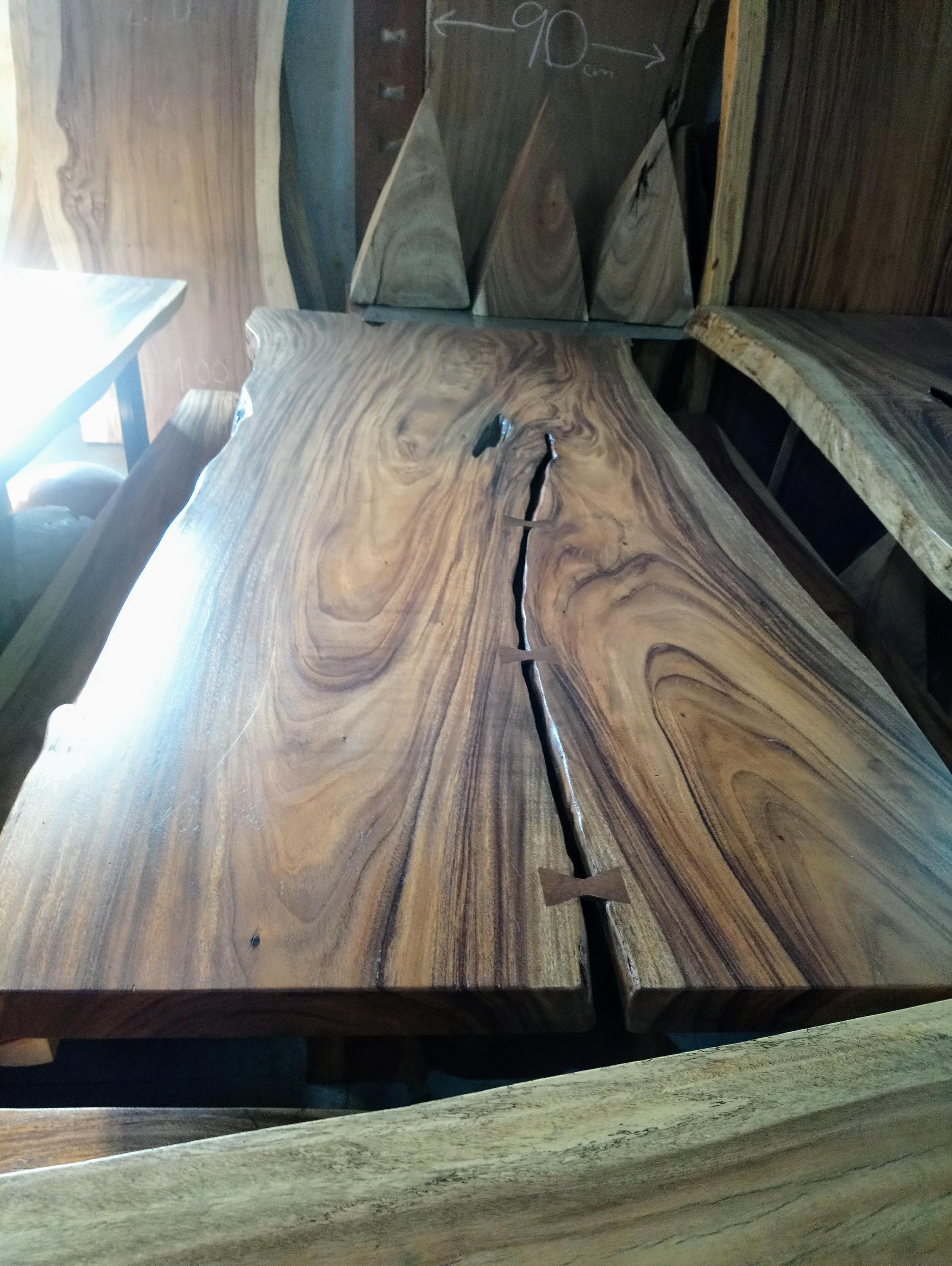 Large Rain Tree Wood Table_1589