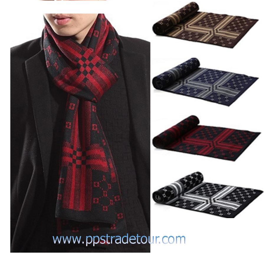 Knitting Wool Men Scarves -PS-SCF94