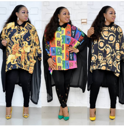 button front floral printed Plus size shirts collar boubou blouse african Maxi Dress