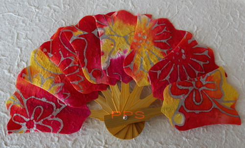 Mulberry Paper hand fans folding