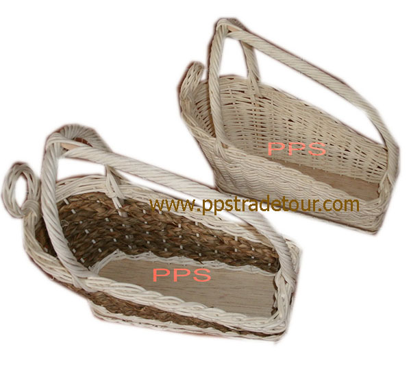 Rattan basket wine holder 14