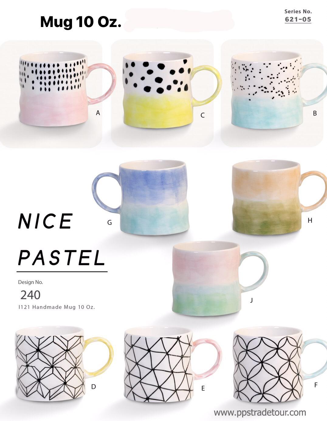 Nice Pastel-Ceramic Mug 10oz.
