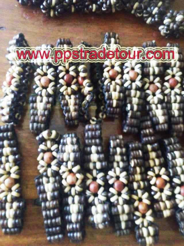 Coconut shell bead bracelet-6