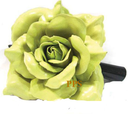 Leather Flower for hair Clips-g39