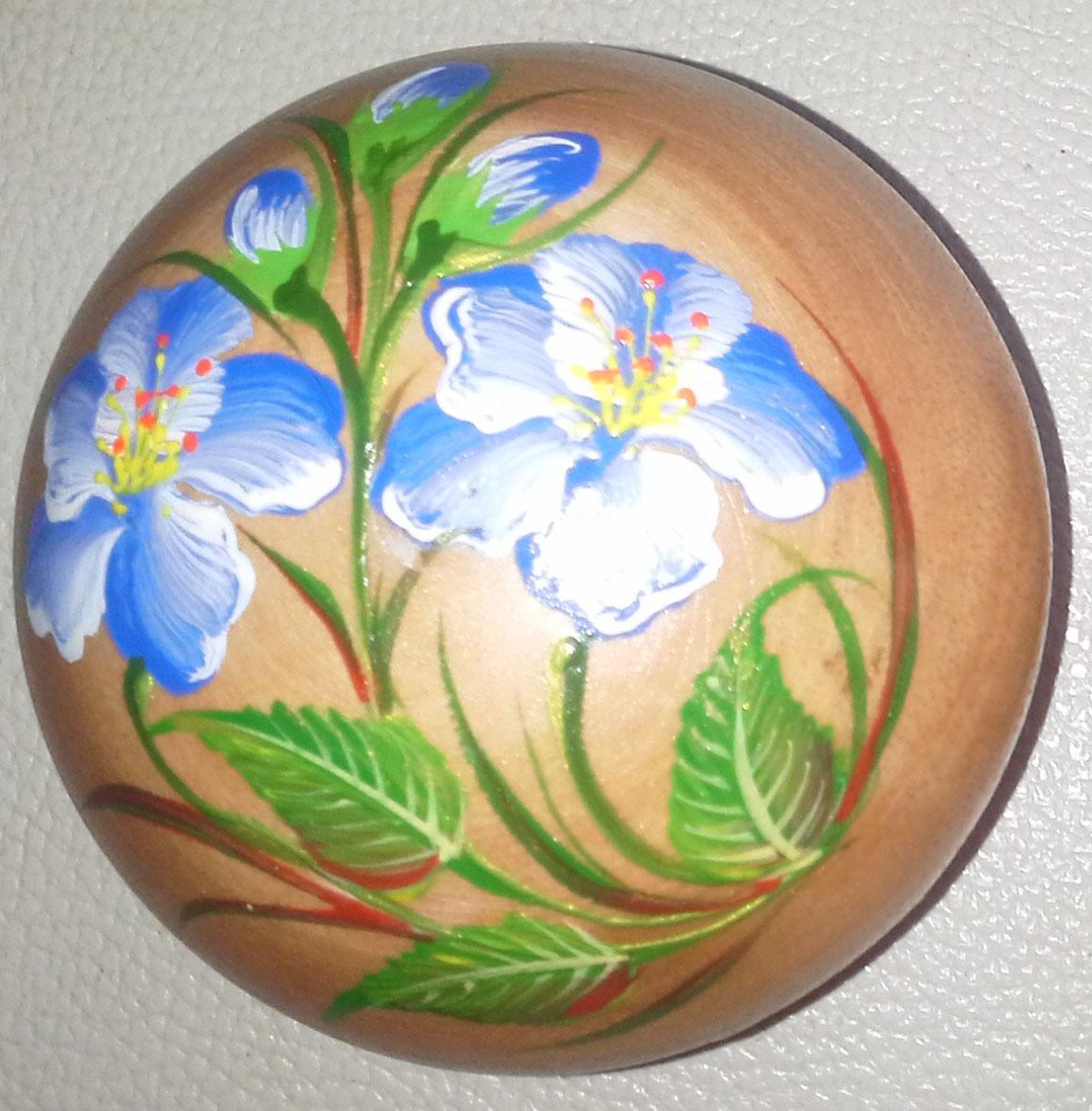 Wood Round Box paint - R33