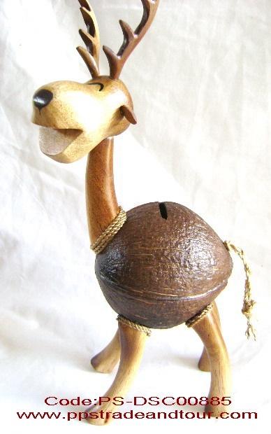 coconut shell saving doll-deer