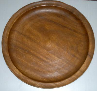 Wood round plate