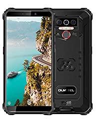 OUKITEL WP5 (2020) Rugged Cell Phones Unlocked Android 10 Smartphone 8000mAh Battery Triple Camera 4 LED Flashlights 4GB+32GB IP68 Waterproof 5.5 HD+ Global GSM 4G Dual SIM Phone Face ID Fingerprint