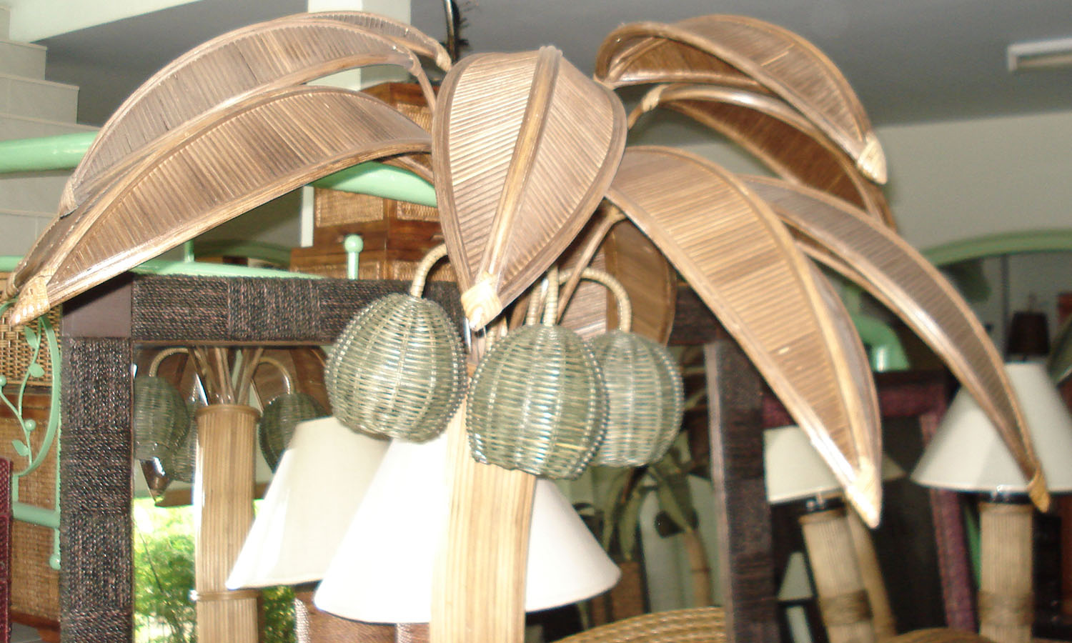 coconut hanging lamp