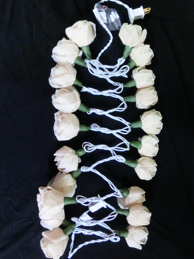 string flower lights