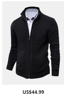 Mens Solid Color Cable Knitted Button Front Casual Cardigans