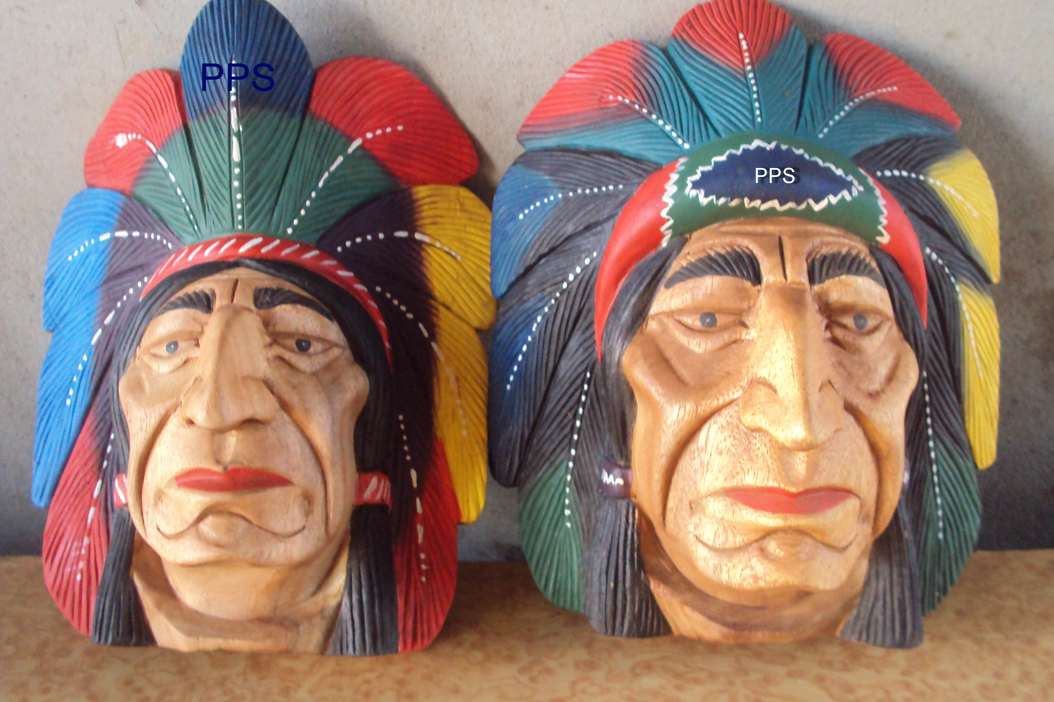 Red Indian head