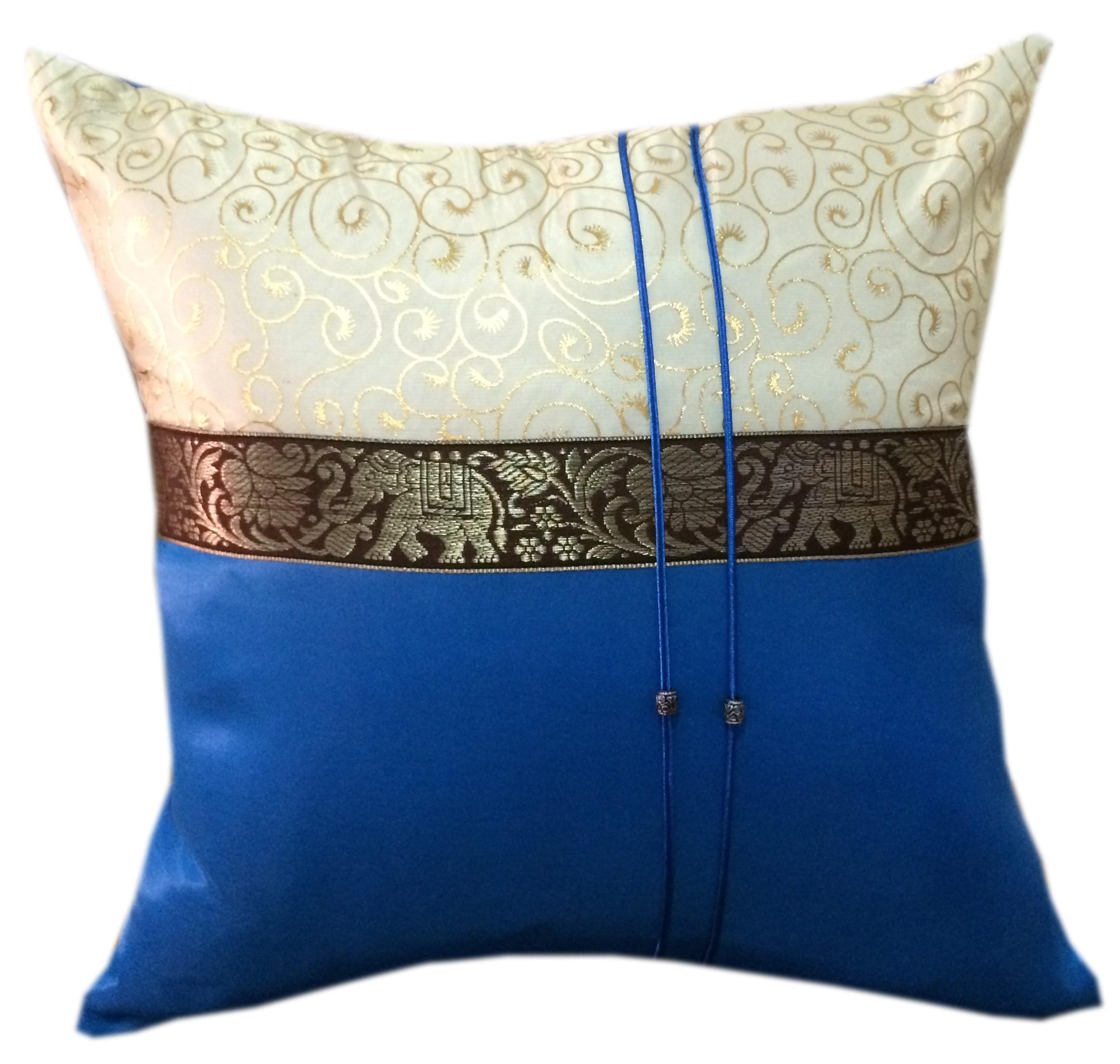 Cushion case-BlueGold
