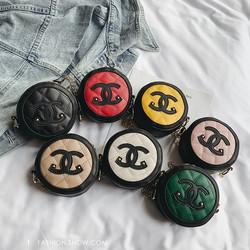 Cute round cha nel pu handbags for kids girls women shoulder bag lady