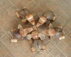 coconut shell saving doll-elephants babies