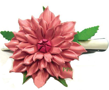 Leather Flower for hair Clips-g19