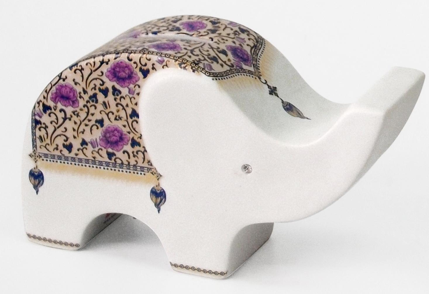 Elephant Ceramic Vase-18