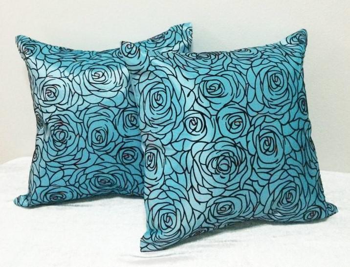 Cushion Pillow Case-BlueRose