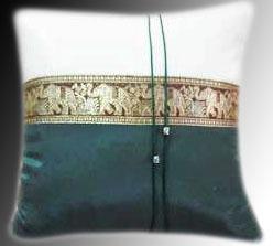 cushion cover- 2 tone Dark Green