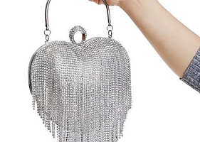 Fringed Clutch Bag Evening Party High Fa