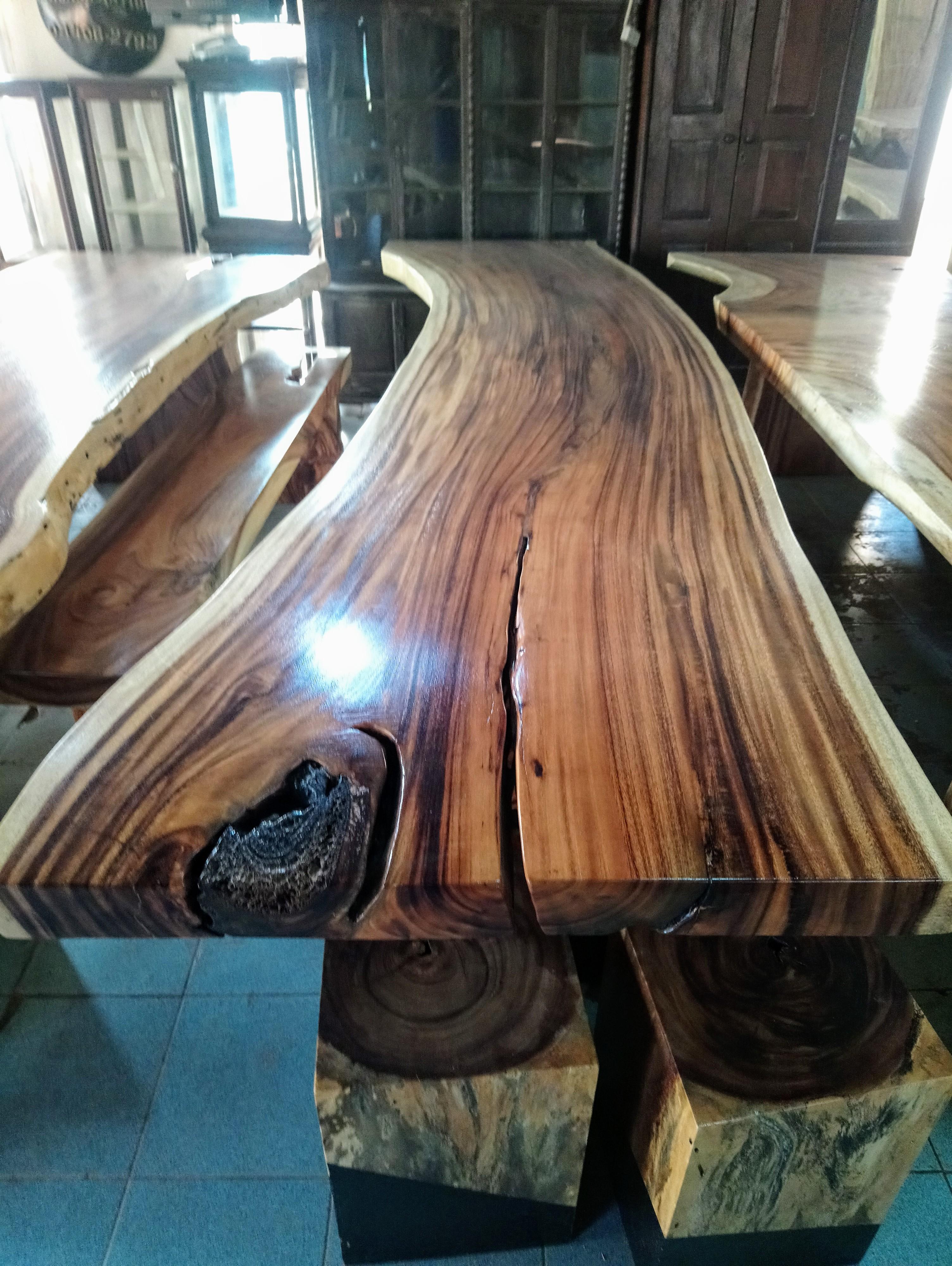 Large Rain Tree Wood Table_1584