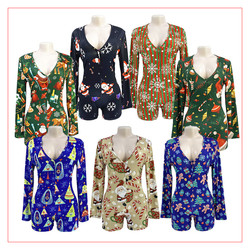 Cleavage Bodycon Jumpsuits Drop Shipping Long Sleeve Romper Bodysuit Women Adult Ones Pajama wap For