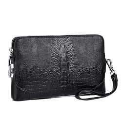 Wholesale new style men's clutch bag password lock fashion casual clutch bag crocodile head large ca