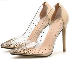 transparent sexy shoe