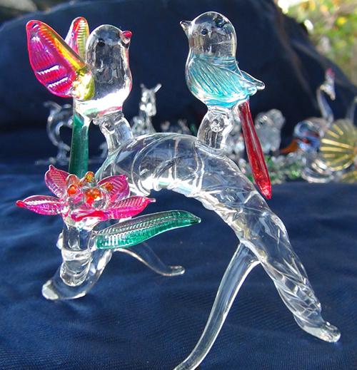 blown glass- birds