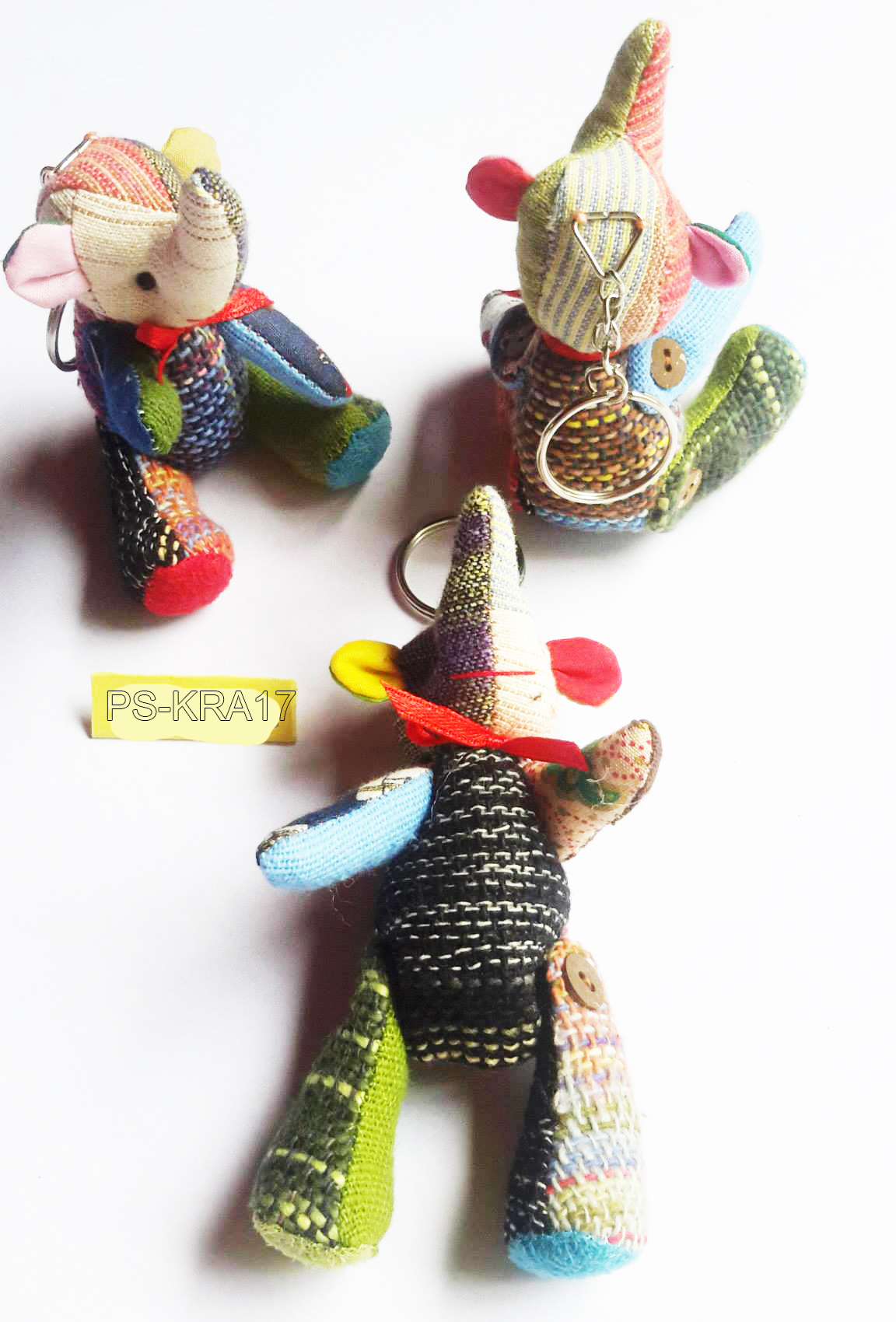 Cotton Animal Dolls KeyringPS-KRA-17
