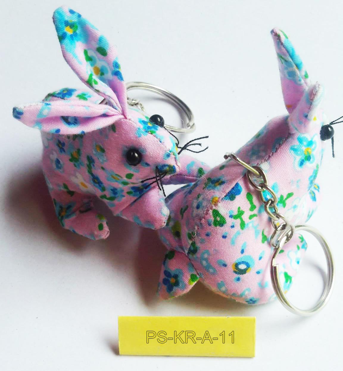 Cotton rabbit keyring-PS-KRA-11