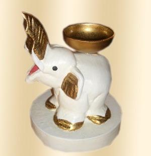 Wood elephant Candle Holder-GEDC2615-1