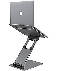 """Nulaxy Laptop Stand, Ergonomic Sit to Stand Laptop Holder Convertor, Adjustable Height from 2.1"""" to 13.8"""", Supports up to 22lbs, Compatible with MacBook, All Laptops Tablets 10-17"""" - Space Grey"""