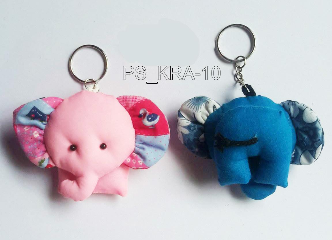 Cotton elephant keyring-PS-KRA-10