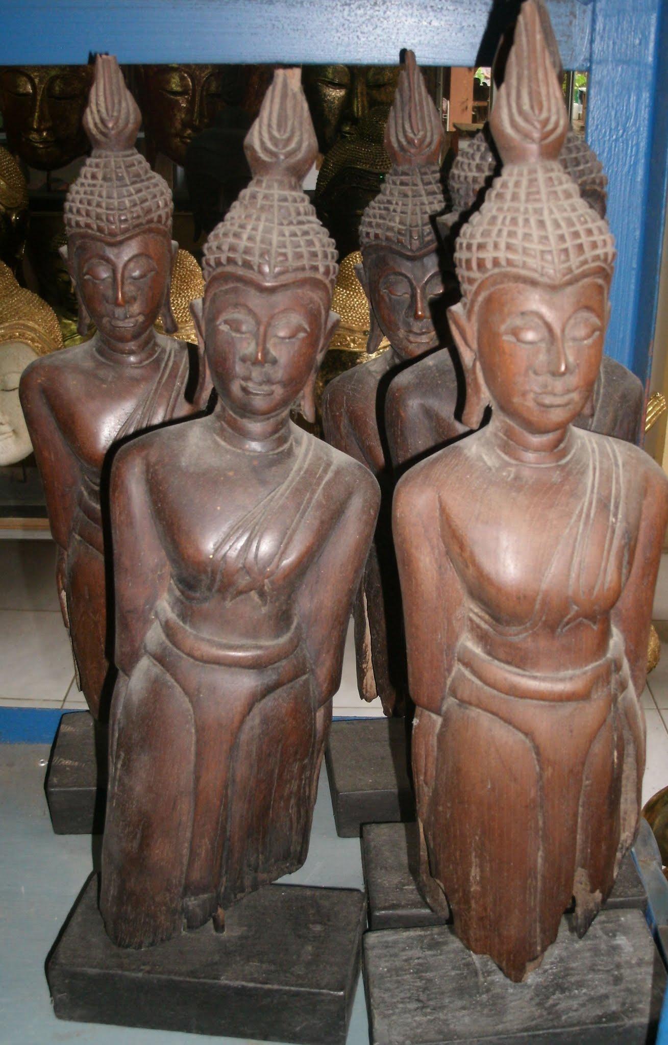 Wood Buddha Standing 4474-1