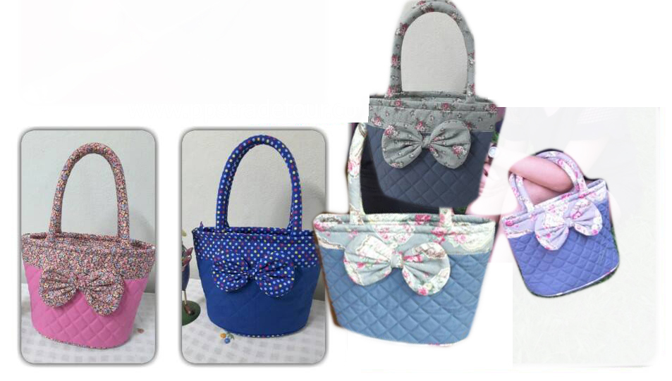 Canvas Round Bow bag