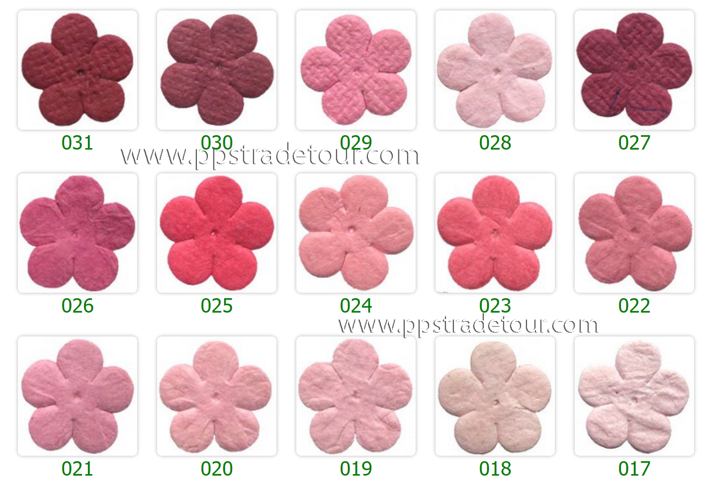 Mulberry Paper Flower Color Chart-3