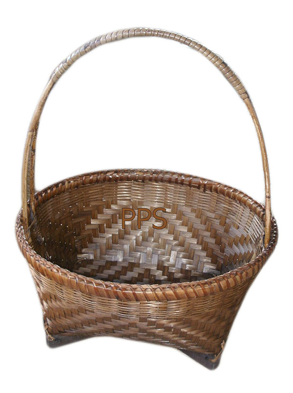 Bamboo basket with handle PS-BB-06