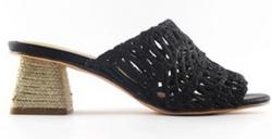 Custom Slip on Shoes block heel sand