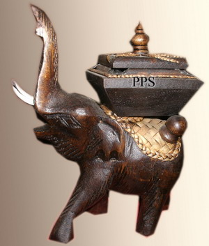 Wood elephant Candle Holder-GEDC2606-1