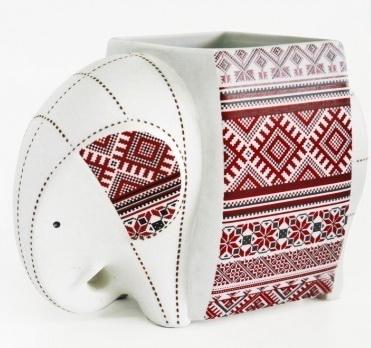 Elephant Ceramic Vase-8