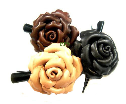 Leather Flower for hair Clips-g9