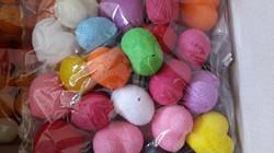 Cotton ball-heart shape