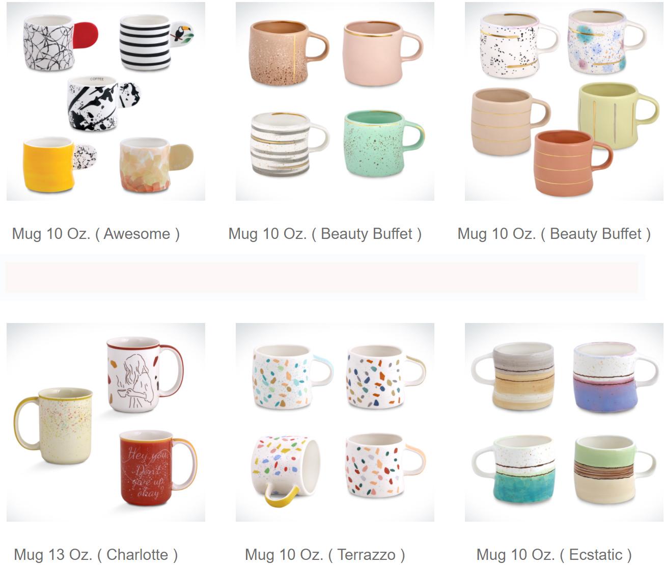 Ceramic mug set 2